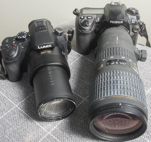 FZ1000 size comparison DSLR