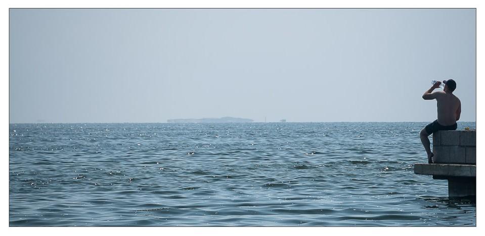 Blue sea, blue sky Helsinki harbour. By David Millier, Whispering Cat Photography.