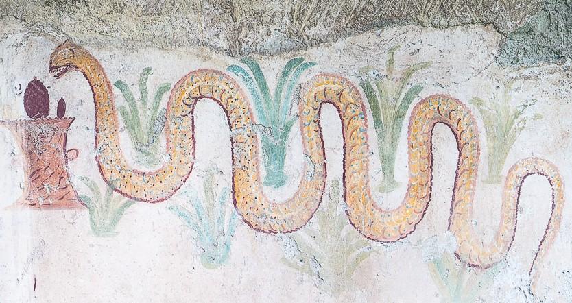 Wall decoration, Roman ruins